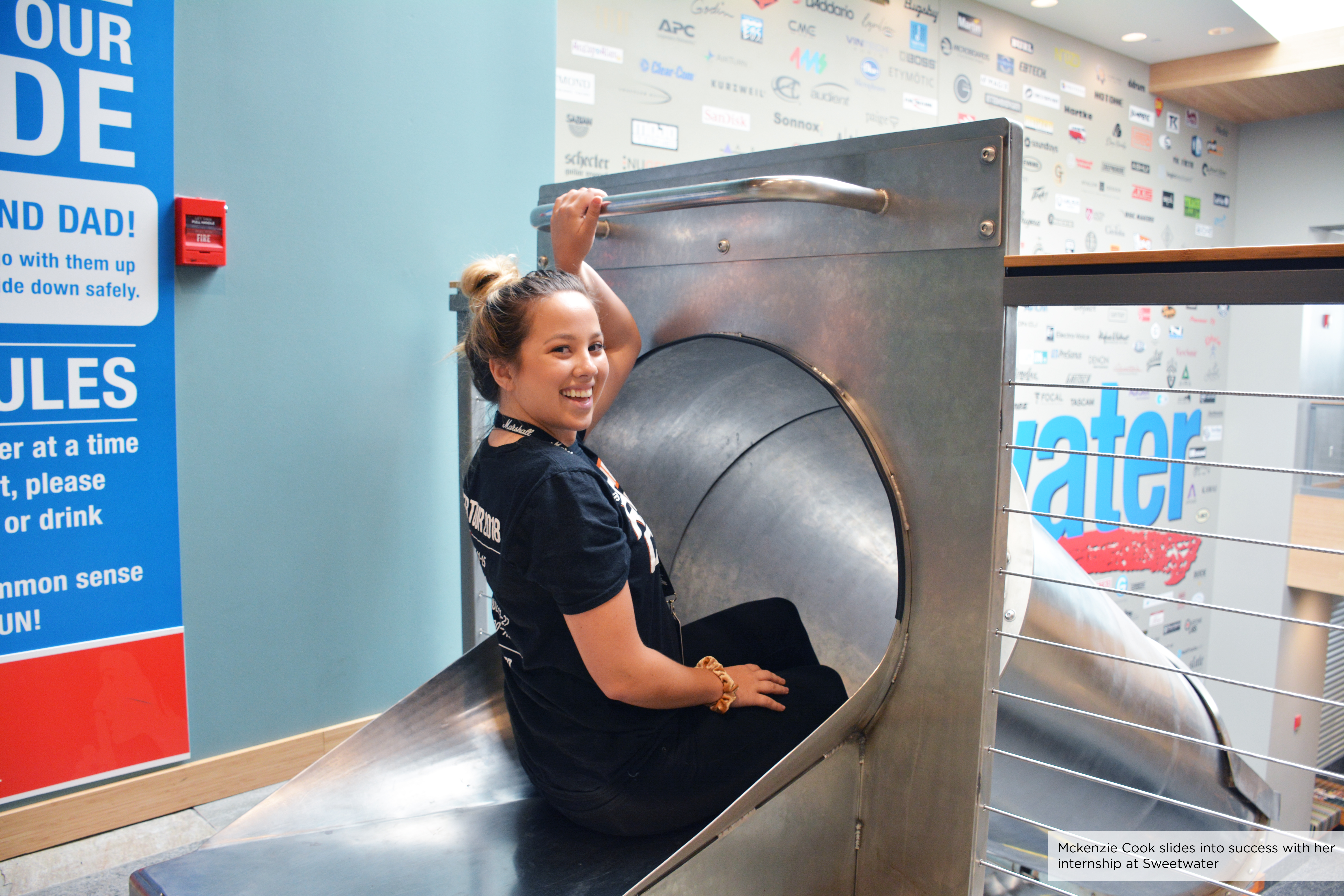 Sweetwater Interns Slide into Experience through their internships