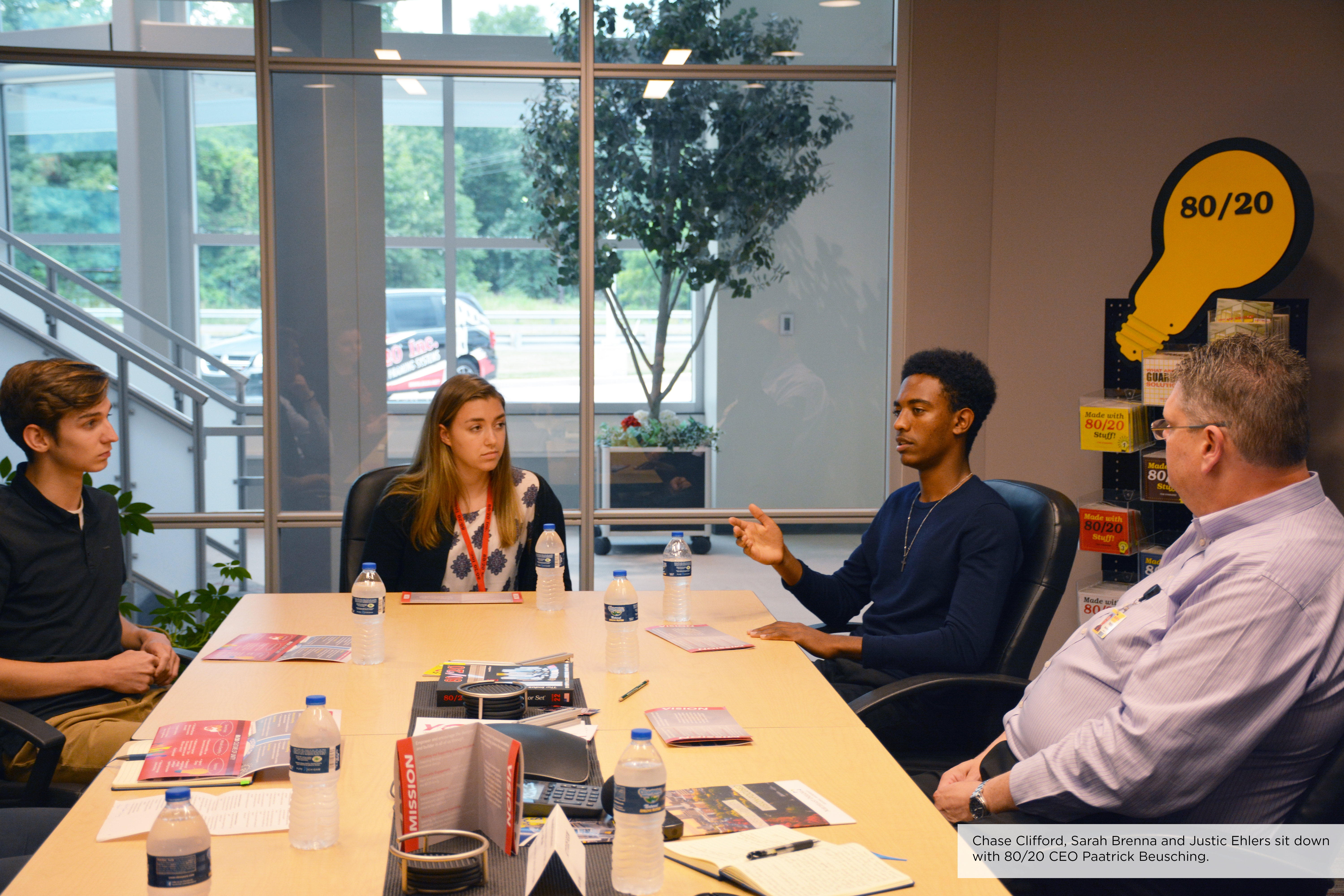 80/20 Interns discuss the strong support system at their internship.